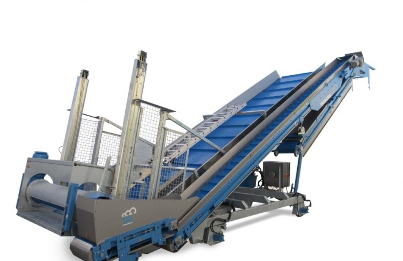 Mushroom Emptying Unit with Casing Separator